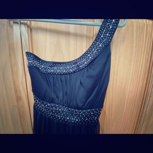 One shoulder black mini dress Junior size M